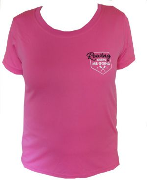 Dames T-shirt 'Rowing keeps me going'
